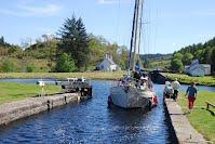 Crinan Canal Schotland Zeilen Happy Crew
